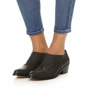Cynthia Vincent Leather Black Bootie